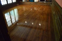 To Clean, Gloss Up, And Seal Dull Old Hardwood Floors Spiffing up sad looking floors: Wax On, Wax Off Hardwood Floor Wax, Old Wood Floors, Wooden Flooring, Parquet Flooring, Laminate Flooring, Young House Love, Plank, Home Repairs, Home Hacks