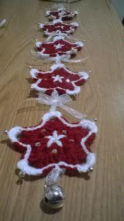Tutorial de estrella navideña a ganchillo.  Navidad, adornos, decoración, navideña, estrella, tutorial, ganchillo, crochet.