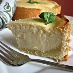 German Cheesecake - Rich, creamy cheesecake baked in a delicious German pastry crust. Heaven!