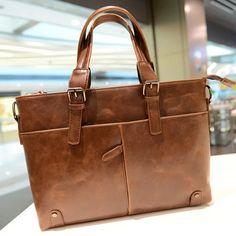 stacy bag hot sale brand high quality men leather handbag male fashion vintage big totes man top-handles briefcase business bag $22.00