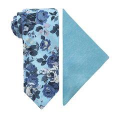 Stafford Floral Tie Set Groom Ties, Tie Set, Pocket Square, Floral Tie, Cotton Fabric, Stuff To Buy, Fashion, Moda, Pocket Squares
