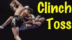 Muay Thai Clinch Drill and Throw   Knee Guard Defense to Clinch Toss
