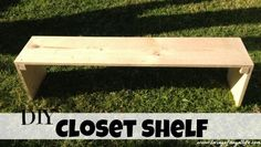 Diy Freestanding Closet Shelf