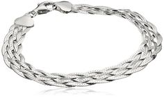 Italian Sterling Silver Six-Strand Braided Herringbone Bracelet, 7.5' >>> Be sure to check out this awesome product.
