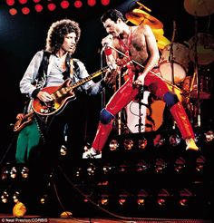 Brian May and Freddie Mercury on stage in 1980. Queen enjoyed six UK No 1 singles and are estimated to have sold 300 million albums worldwide