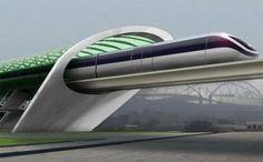 Hyper-Speed Transportation, Hyperloop, future vehicle, train, San Francisco, Los Angeles, future transportation, future train, futuristic transportation