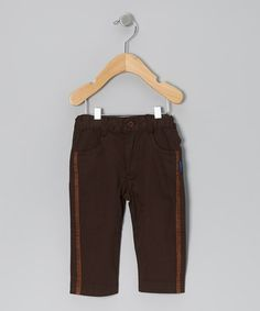 Take a look at this Espresso Pants - Infant, Toddler & Boys by rabbit moon on #zulily today!