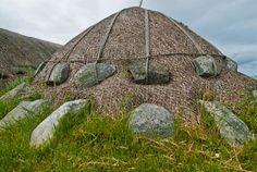 The blackhouse at Arnol, Lewis, Scotland.