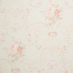 Color: Green / PinkSoft, floral pattern wallpaper. Shabby chic inspiredPaper Backed Vinyl. Washable. Peelable. Paste required; apply to wallpaperStraight Design Match. Pattern repeat every 20.8 Inch.T