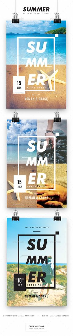 Summer Beach House Party Flyer  - PSD Template • Only available here ➝ http://graphicriver.net/item/summer-beach-house-party-flyer/16828734?ref=pxcr