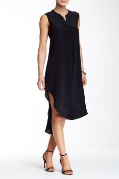 Hi-Low Silk Dress