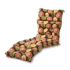 Havenside Home Eastport Outdoor Chaise Lounge Cushion - 22 w x 72 l (Flower On Chocolate), Brown (Fabric, Floral), Outdoor Cushion Outdoor Dining Set, Indoor Outdoor, Outdoor Ideas, Outdoor Decor, Umbrellas For Sale, Teak Outdoor Furniture, Outdoor Lounge Chair Cushions, Cushion Fabric, Outdoor Fabric