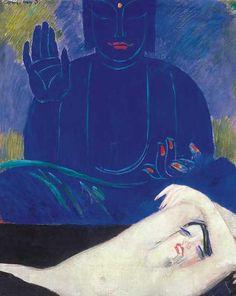 Nude with Buddha, around 1926 János Vaszary