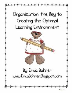 This free download is for a packet of photos and organizational tips for teachers.  Download now to create the optimal learning environment in your...