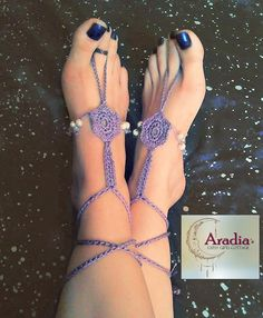 Check out our new boho barefoot sandals