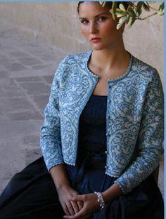 Billedresultat for solveig hisdal Norwegian People, Folk Fashion, Womens Fashion, Fair Isle Knitting, Fair Isles, Knitting Projects, Bunt, Organic Cotton, Knitwear