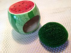 Vintage Watermelon Dish Scrubber Holder by VintageofTN on Etsy, $7.50