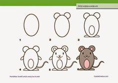 Kerajinan Anak - Menggambar Tikus - Cupido Creative