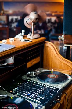 Retro Vinyl DJ Station by Emin Mathers