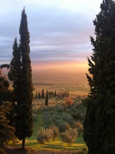 Tuscanian Sunset. Pienza. Italy.