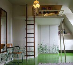 loft bed integrated interior
