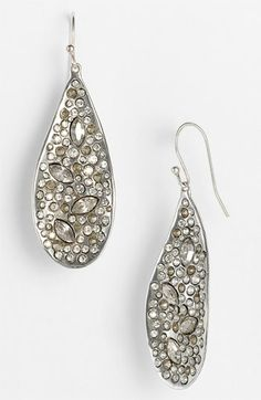 Alexis Bittar 'Miss Havisham' Large Teardrop Earrings available at #Nordstrom #Nordstromweddings