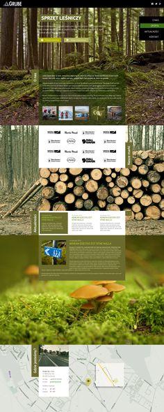 GRUBE website by Marek Lasota, via Behance