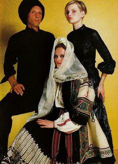 Vogue Paris, September 1999. Romanian traditional clothing