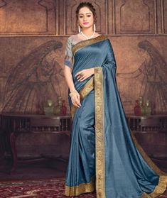 Chanderi Silk Chanderi Silk Saree, Silk Sarees, Long Cut, Spring Sale, Blouse Online, How To Dye Fabric, Color Shades, Sari, Grey