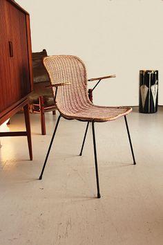50's basket chair by gian franco legler, aarea, ch
