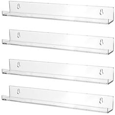Amazon.com: Sooyee 3 Pack 15 Inch Acrylic Invisible Kids Floating Bookshelf for Kids Room,Modern Picture Ledge Display Toy Storage Wall Shelf,Clear: Kitchen & Dining Toy Display, Display Shelves, Wall Shelves, Shelf, Display Wall, Kids Room Bookshelves, Floating Bookshelves, Picture Rail Bedroom, Wall Ledge