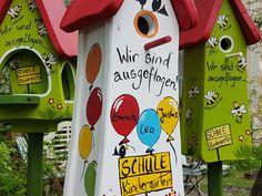 Weiteres - Kindergarten Abschied Geschenk Vogelhaus - ein Designerstück von Die-Original-Vogelvilla bei DaWanda