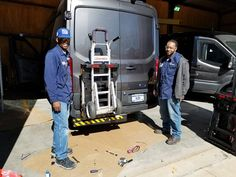 Griffin Inc. an armored car manufacturer located in Byhalia, Mississippi installing HTS Systems' trailer hitch receiver Hand Truck Sentry System units to 2500 Ford Transit armored vans. Armored Car, Armored Vehicles, Sikorsky Aircraft, Hand Cart, Trailer Hitch Receiver, Cargo Van, Ford Transit, Truck Accessories