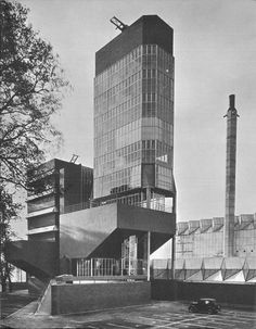 james stirling & james gowan, Leicester University Engineering Building (1959-1963), Leiceister, figura extraída de James Stirling: Buildings and Projects 1950-1974, 1975. p70