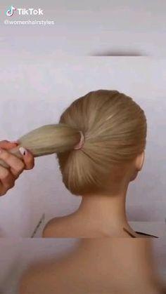 Ballet Hairstyles, Bun Hairstyles For Long Hair, Braided Hairstyles Tutorials, Black Hair Video, California Hair, Girl Hair Dos, Short Hair Styles Easy, Hair Videos, Hair Designs