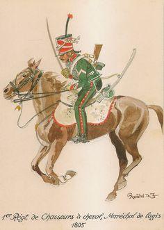 MINIATURAS MILITARES POR ALFONS CÀNOVAS: REGIMIENTOS ( nº 1 )DE CHASSEURS A CHEVAL , ( Epoca Napoleonica) por Herbert KNÖTEL