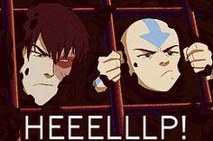lokairbender:Zuko and Aang. FUNNY MOMENT