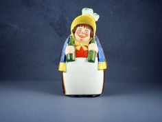 Schafer and Vater Novelty Jolly Drunk Woman Small Drinking Flask by TheVintageWindowUK on Etsy