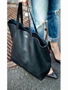 Today: Cuyana Tote, Rag & Bone Jeans, Louboutins Monogram Tote, Everyday Bag, Black Tote Bag, Minimal Fashion, Tote Purse, Beautiful Bags, Sweater Weather, Fashion Bags, Purses And Bags