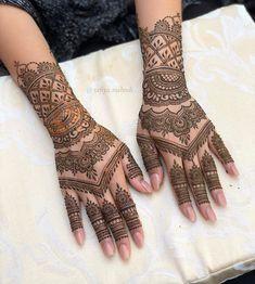 Bridal Mehndi or Henna Designs for Full Hands Modern Henna Designs, Arabic Henna Designs, Full Hand Mehndi Designs, Mehndi Designs For Beginners, Mehndi Design Photos, Wedding Mehndi Designs, Dulhan Mehndi Designs, Beautiful Mehndi Design, Latest Mehndi Designs