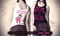 Northeast Ink saved to Apparel and BagsPin20Cat Themed Bachelorette Party Tank Tops -  #cat #tank #top #bridesmaidgifts #brideshirt #bridesmaidshirts #bridalshowertshirts #custombrideshirt #personalisedtshirt #bridalshirts #bride #customgifts #etsy #bridesmaid #bridal #bridesmaidtshirt #shirts #tshirts #etsyparty Brides Maid Shirts, Brides Maid Proposal, Bridal Shirts, Bachelorette Party Themes, T Shirt Diy, Athletic Tank Tops, Ink, Clothes For Women, Bridal Shower