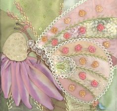Julie has created a beautiful block.  I love the artistry represented in her butterfly.  Beautiful SRE and embroidery.