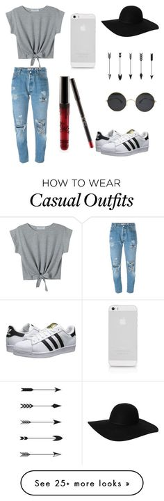 """Casual"" by emibruno on Polyvore featuring Levi's, Monki, WithChic, adidas Originals, cool and women"