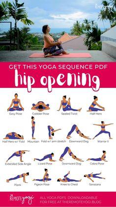 Yoga Flow Sequence, Yoga Sequences, Restorative Yoga Sequence, Hatha Yoga Poses, Yoga Moves, Hip Opening Yoga, Hip Opening Stretches, Hata Yoga, Relaxing Yoga