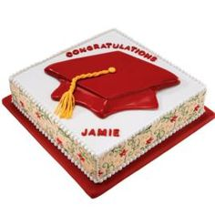 Thinking Cap Cake. For the student who gets the details right, here's the perfect cake. The sides are created from fondant with our Graceful Vines Fondant Mat, which imprints the beautiful leaf and tendril design.