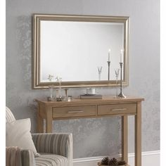 Silver Rectangular Wall Mirror - x - available to buy online or at Choice Furniture Superstore UK on stockist sale price. Get volume - discount with fast and Free Delivery. Over The Door Mirror, Window Mirror, Wall Mirror, Overmantle Mirror, Cheval Mirror, Luxury Loft, Living Room Mirrors, Mirrors Wayfair, Centre Pieces