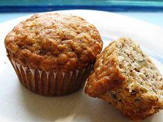 Healthy banana oat protein muffins.  Recipe video:  http://youtu.be/bKRrK3JnD3k