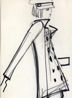 1962 - caban sketch by YSL