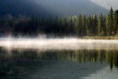 Grave Lake in the Fog, a photo from British Columbia, Western | TrekEarth