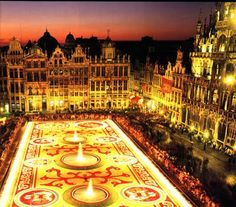 The Floral Carpet in Brussels Belgium